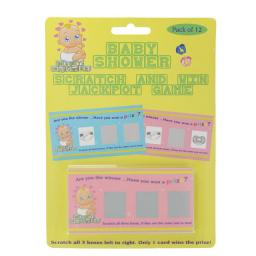Baby Shower Scratch And Win Jackpot Game Pack of 12
