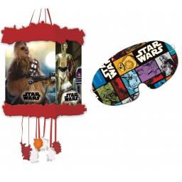 Star Wars String Pull Pinata + Blindfold