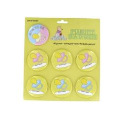 Baby Shower Party Badges Set of 7