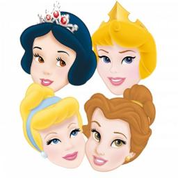 Disney Princess Paper Cardboard Masks 6ct per pack 4 assorted