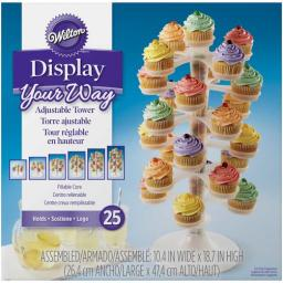 Wilton Plastic Adjustable Cupcake Tower Holds 25 Cupcakes