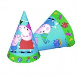 Peppa Pig Paper Party Cone Hats 6ct