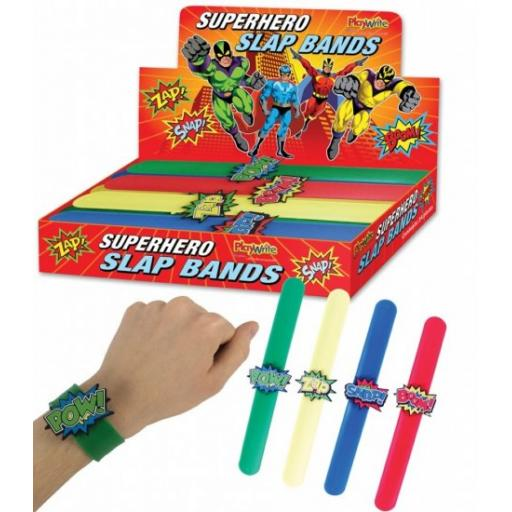 1 Super Hero Snap Bracelets - Pinata Toy Loot/Party Bag Fillers