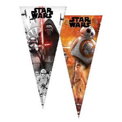Star Wars 6 Plastic Sweet Cone Bags