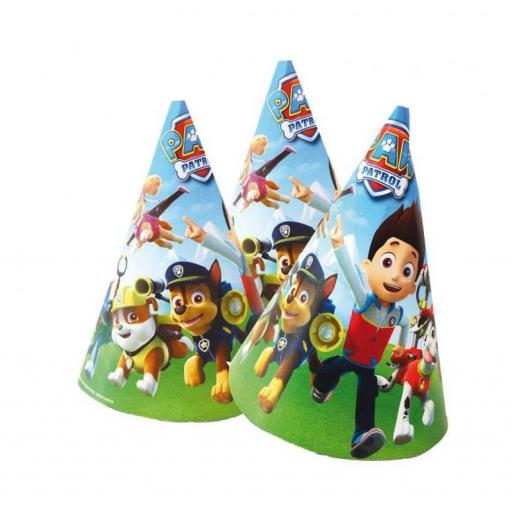 Paw Petrol Party Paper Cone Hats 6ct