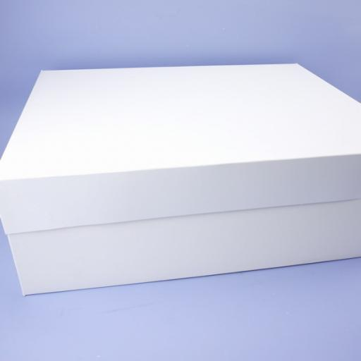 18x14in Cake Box & Lid White Stapleless