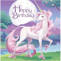 Unicorn Fantasy Party Paper Napkins 2ply 16ct