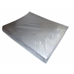 25 Silver Paper Disposable Tablecovers 90x90cm