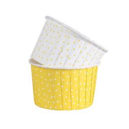 Polka Dot Yellow 24 Coloured Baking Cups