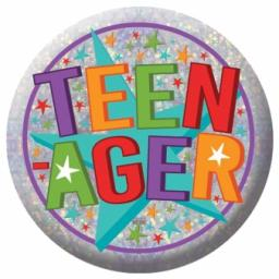 Teenager Holographic Badge 5.5cm
