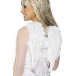 Angel Wings White Feathered 30cmx40cm