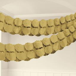 Gold Tissue Paper Garland 3.6m