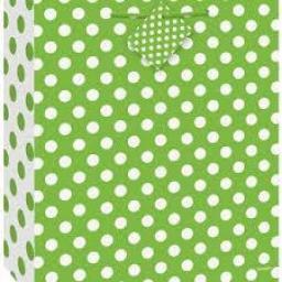 Lime Green Dots Medium Gift Bag