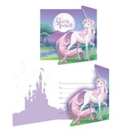 Unicorn Fantasy Party 8ct Invitations + Envelopes