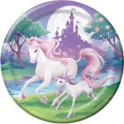 Unicorn Fantasy Party Paper Plates 8ct 22.2cm