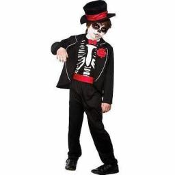 Day Of The Dead Zombie Boy Costume