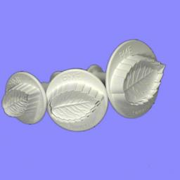 Veined Rose Leaf Plunger Cutter Set/3