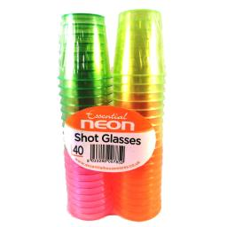 Essential Neon Shot Glasses 36pcs
