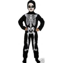 Skeleton Bodysuit With Hood Large