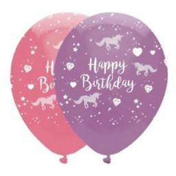 Unicorn Fantasy 6 Printed Latex 12 inch Helium Quality Balloons