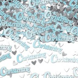 Confetti Metallic Christening Blue 14G