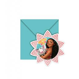 Moana 6 Party Invitations + Envelopes