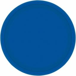 8 Bright Royal Blue Paper Plates 9""
