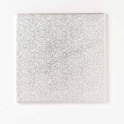 7 Inch Square 12mm Cake Drum - Silver