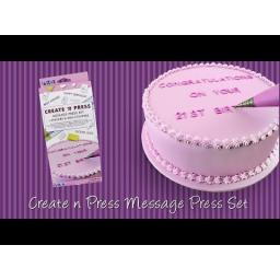 PME Create N Press Message Set, White, 28 x 12 x 2 cm