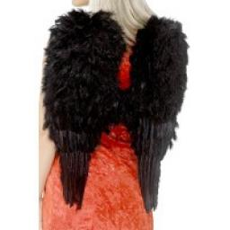 Extra large Feather Angel Wings Black 50CM X 60CM