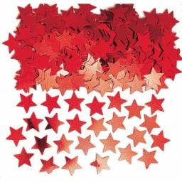 Red Stardust (Metallic) Confetti - 14g