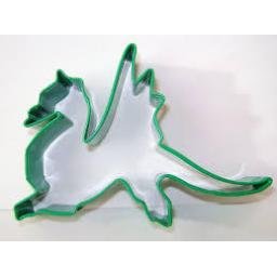Dragon Metal Cookie Cutter Green