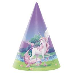 Unicorn Fantasy Paper Party Hats 8ct