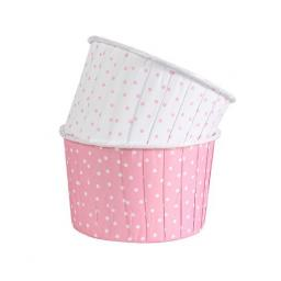 Polka Dot Pink Coloured Baking Cups 24pcs