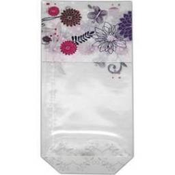 Confectionery Bags Patterned & Ties 100x220mm