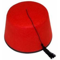 Fez Hat Red 19cm Adult