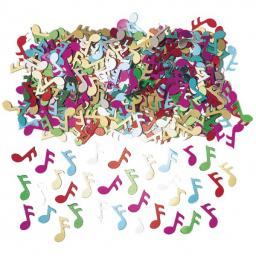 Rock N Roll Music Note Metallic Confetti