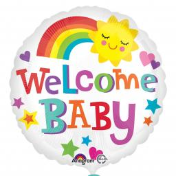 Welcome Baby Foil Helium Balloon 18 inch