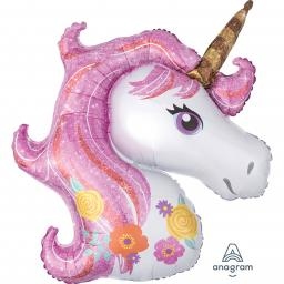 Magical Unicorn SuperShape Foil Balloon 33 x 29 inch