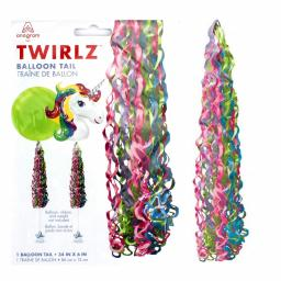 Twirlz Medium Jewel Tones Balloon Tail 34 x 6 inch