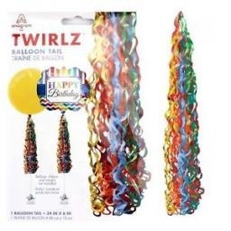 Twirlz Medium Primary Balloon Tail 34 x 6 inch