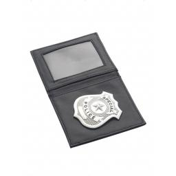 Police Badge, Silver, in Wallet