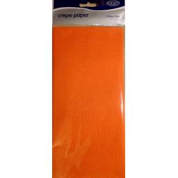 Orange Crepe Paper Long Folded 1.5m x 50cm