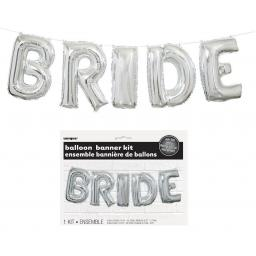 14 Inch Silver Bride Letter Balloon Kit