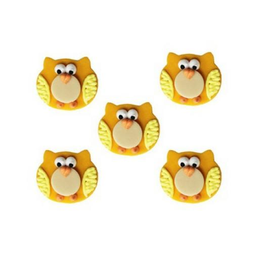 Happy Owls Sugarcraft Decorations