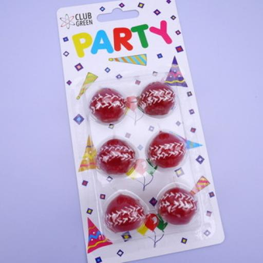 Party Candles Cricket Balls Set of 6