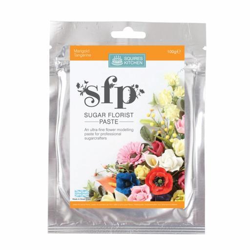 Squires Sugar Florist Paste (SFP) - Marigold (Tangerine) - 100g