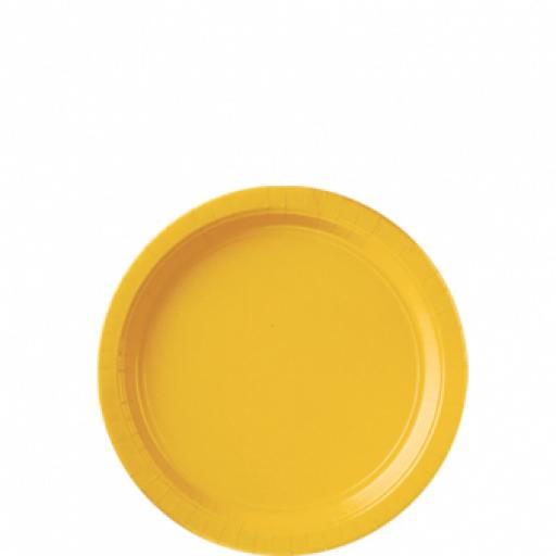 8 Sunshine Yellow Paper Plates 9 inch