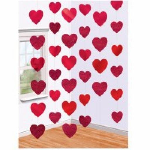 Candy Hearts Foil String Decoration 2.1m