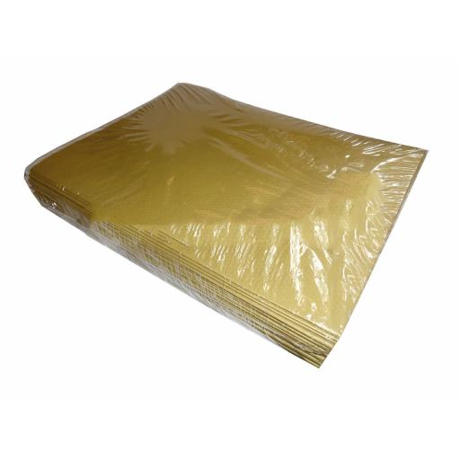 Gold Paper Disposable Tablecovers 90x90cm 25ct